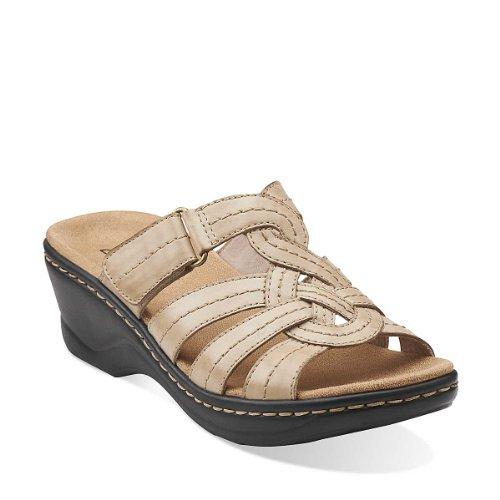Clarks Women's Lexi Dill Wedge Sandal,Bone,7.5 M US