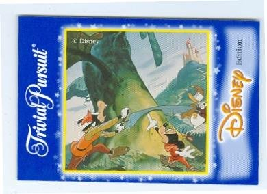 Donald Duck, Goofy, Micky Mouse trading game card Trivial Pursuit 2x3 Mickey Beanstalk