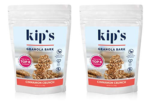 Cinnamon Granola Crunch (Kip's Cinnamon Crunch Granola Bark, Allergy Friendly, Peanut Free, Nut Free, Gluten Free, Vegan, Kosher (2 pack))