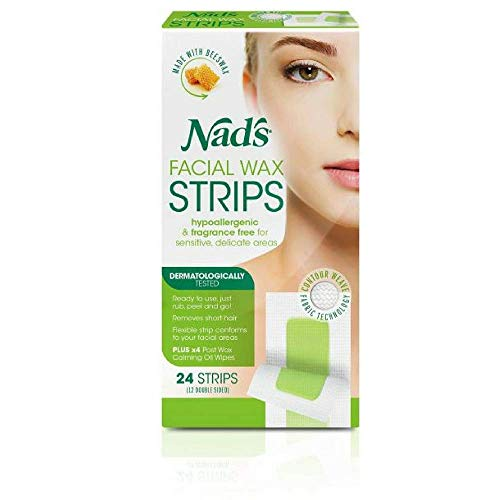 Nads Hair Removal Facial Strips 24 Count