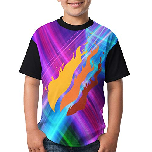 Gamer Girl - Youth Video Preston Fire Nation Playz Gamer Flame Boys and Girls Print T-Shirts XL