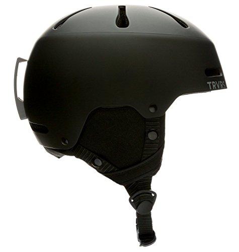 Traverse Sports Youth Ski/Snowboard & Snowmobile Helmet, Matte Black, Small (52-55cm)