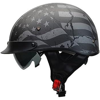 Amazon Com Ilm Half Helmet Motorcycle Open Face Sun Visor