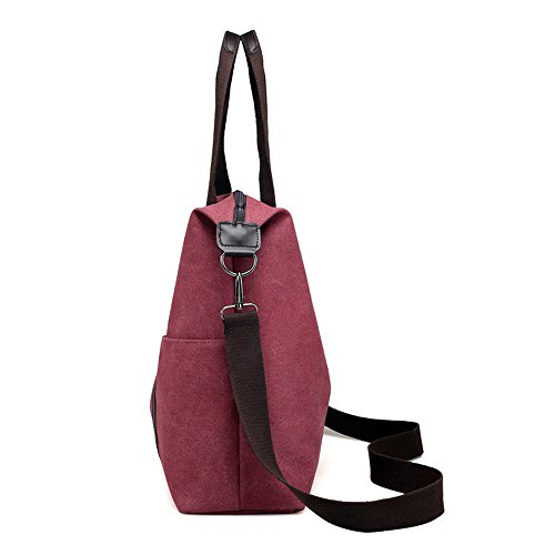 Capacity Everyday Asdflina Canvas Bag Candy Tote Casual Suitable Vintage Commuting Use Large For gxCqxwP4