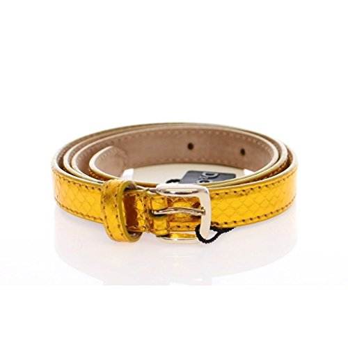 Gabbana Womens Belts (Dolce & Gabbana Yellow Snakeskin Logo Belt)