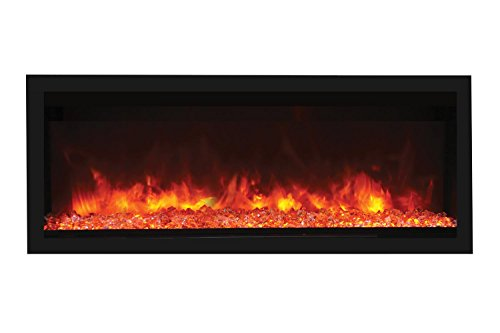 Cheap Remii Extra-Tall/Deep Indoor Electric Fireplace Black Steel Surround (102755-XT) Built-In 55-Inch Black Friday & Cyber Monday 2019
