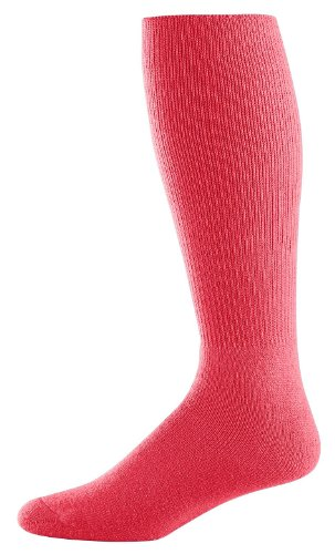Athletic Socks - Youth Size 7-9, Color: Red, Size: 7 - 9 by Augusta Sportswear