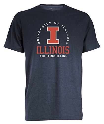 (NCAA Illinois Illini Men's Dip Dyed Heather Tee, XX-Large, Marine)