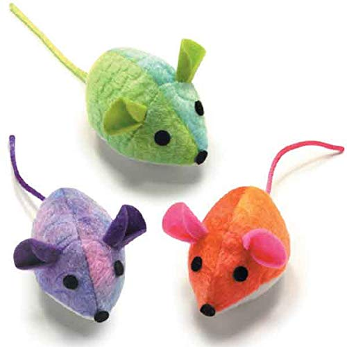Savvy Tabby Paradise Mice Honeysuckle Cat Toys 2 Pack