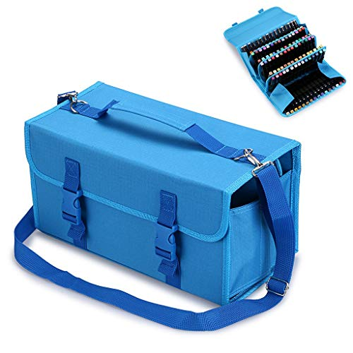TOOGOO Marker 120 Holders Organizer Case Storage So On Fits from 15Mm to 22Mm Diameter Blue by TOOGOO (Image #4)