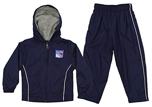 Outerstuff NHL Infant & Toddler (12M-4T) Jacket and Pant Windsuit Set, New York Rangers 2T