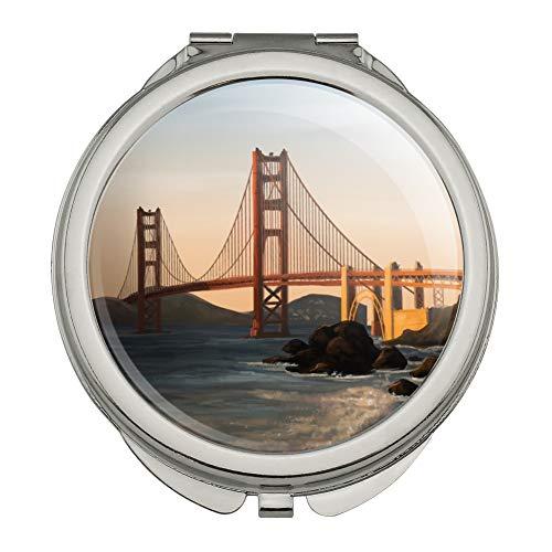 (Golden Gate Bridge San Francisco Compact Travel Purse Handbag Makeup Mirror)