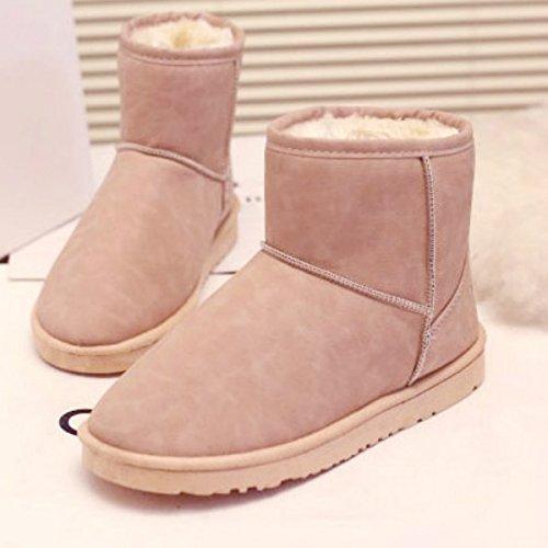 FLYRCX Herbst und Winter Schnee Stiefel wasserdicht Rutschfest Freizeit Mode Dame mit Samt Dicke warme Schuhe  | Schönes Aussehen  | Leicht zu reinigende Oberfläche