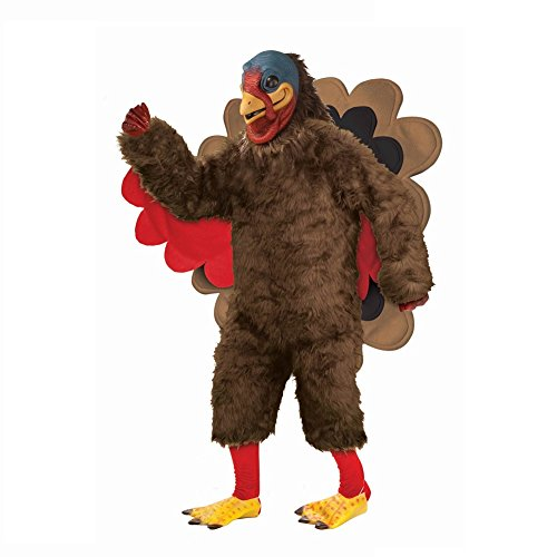 Thanksgiving Turkey Adult Mascot Costumes - Deluxe Plush Turkey Costume Adult Costume
