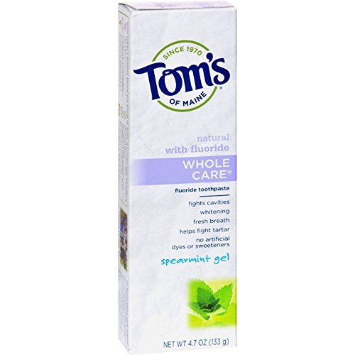 [Tom's of Maine Whole Care Toothpaste Spearmint - 4.7 oz - Case of 6] (Mr Gum Costume)