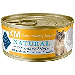 Blue Natural Veterinary Diet KM Kidney + Mobility Support Canned Cat Food 24/5.5 oz