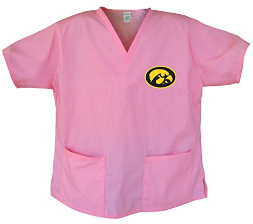 (Ladies University of Iowa Shirts Iowa Hawkeyes Scrubs - Tops for Women XL)