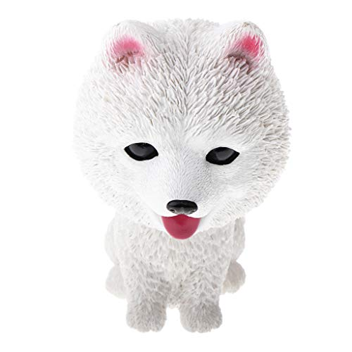 (CUTICATE Bobbing Head Dog Bobblehead Puppy Figurines, Home/ Car Dashboards Decoration Ornaments, 6 Patterns to Choose - Samoyed)