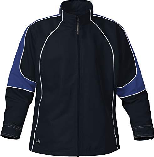 Ladies Blaze Mesh Jacket - Stormtech Women's Blaze Track Jacket - TS-1W, Black/Royal, XX-Large