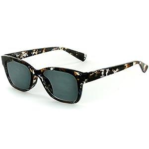 "Aloha Eyewear Women's ""Tropix"" Wayfarer Full-Lens Non-Bifocal Reading Sunglasses (Java Crystal +2.00)"
