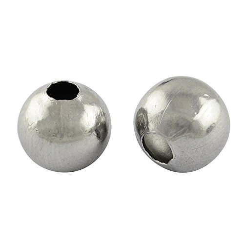 3 Stainless Steel Beads - 9