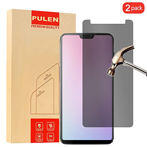 [2-Pack] OnePlus 6 Privacy Screen Protector, PULEN [Self-Adhesive] [Privacy Protection] [Scratch Resistance][Anti-Fingerprint] [No-Bubble] Clear Privacy Protector Film