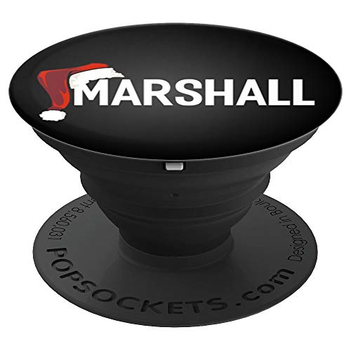 My Personalized Christmas Santa Hat Name Marshall Pop Socket - PopSockets Grip and Stand for Phones and Tablets