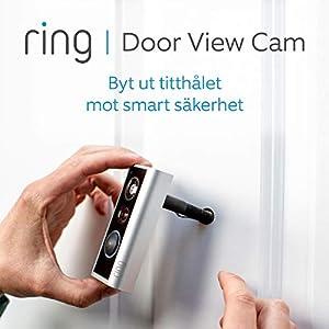 Ring Door View Cam | Video-dörrklocka som ersätter ditt titthål med 1080p HD-video och tvåvägskommunikation. För dörrar med en tjocklek på 34–55 mm
