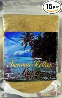 Amazon.com: Tsunami Chupete Kava polvo de raíz 250 g/8.8oz ...