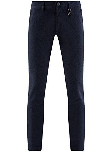 Chino Pantalon 7929o Bleu En Hommes Coton Ultra Pour Oodji SRpvwqRd