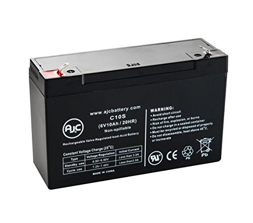 Vital Techology Vitalmax 2000 Pulse Oximeter 6V 10Ah Medical Battery - This is an AJC Brand Replacement by AJC Battery