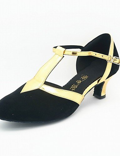 Velourleder gold 5 Absatz Damen Kubanischer uk3 eu36 Anpassbare eu36 5 cn35 us5 Nicht Lackleder and cn35 gold ShangYi us5 5 black black 5 Modern and uk3 qZxw0Hn