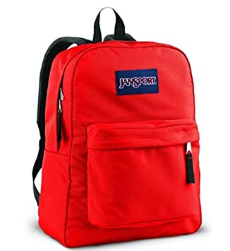 Amazon.com: Jansport Backpack Suprebreak High Risk Red: Sports ...