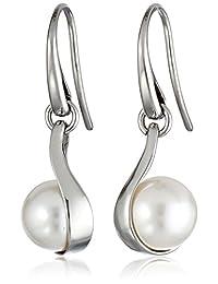 """Skagen""""Agnethe"""" Austrian Pearl Drop Earrings"""
