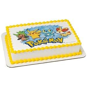Licensed Edible Cake Images : Amazon.com: Pokemon Licensed Edible Cake Topper #7558 ...