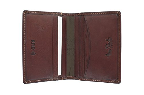 Perotti Brown Holder Full Credit Leather Grain Protection RFID With Card 1011 1 Tony Black afwUxqx