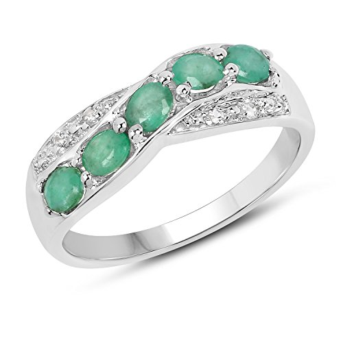 0.79 Carat Genuine Zambian Emerald & White Topaz .925 for sale  Delivered anywhere in USA