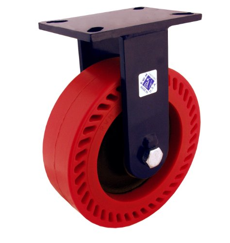 RWM-Casters-76-Series-Plate-Caster-Rigid-Kingpinless-Urethane-on-Iron-Wheel