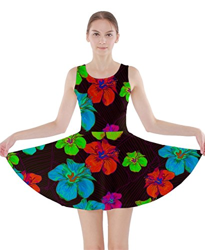 CowCow Damen Kleid Mehrfarbig Gr. XXX-Large,  - Neon Hawaii