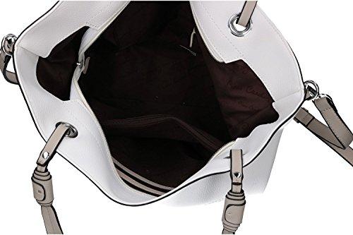 83e00857f54e6 ... Tasche damen schulter PIERRE CARDIN weiß ffnung zip mit Schultergurt  VN1254