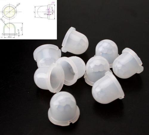 Leyal 10PCS Infrared Sensor 8308-4 Mini White Fresnel Lens Body Pyroelectric PIR