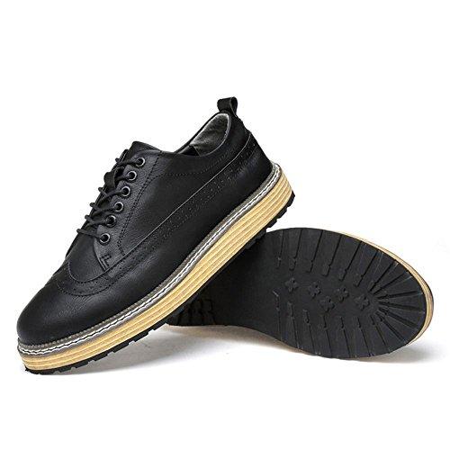 Taoffen Heren Vrije Tijd Lage Top Schoenen Oxford Schoenen Zwart