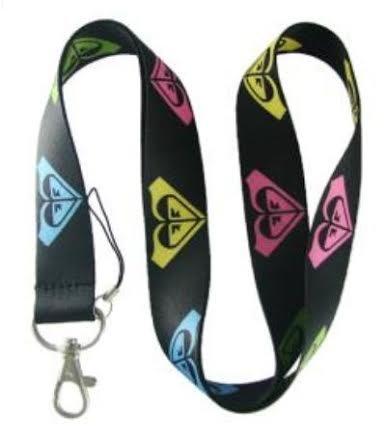 roxy-multi-color-logos-lanyard-keychain