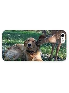 3d Full Wrap Case for iPhone 5/5s Animal Deer Kissing The Do