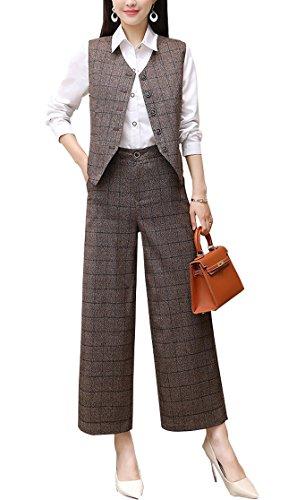 尊敬シンボル新鮮なレディース スーツ パンツ チェック柄 大きいサイズ フォーマル 上品 ベスト 通勤 おしゃれ