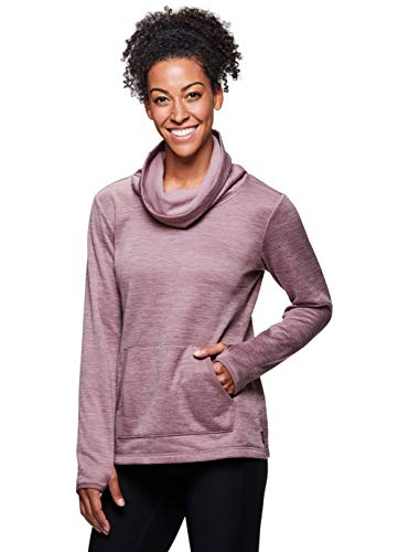 RBX Active Women's Long Sleeve Fleece Cowl Neck Sweatshirt RBX Velvet Mauve L