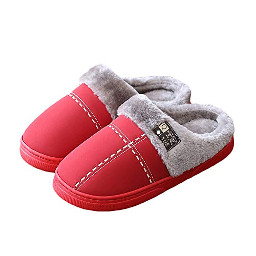 Pantofole Le Antiscivolo Da Piatto Donna Interno esterno Scarpe Per Invernali Signore Morbido Ultra Red Basso Panno Tacco fpqwfrB
