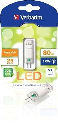 Verbatim 52143 - Bombilla LED, capsula G4 Bi-Pin 12V, 80 lúmenes