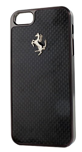 Ferrari GT Carbon Snap-on Hard Case for iPhone 5/5s (Gunmetal Black)