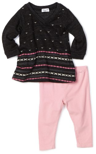 Splendid Littles Baby Girls' Fairisle Print Tunic Set, Charcoal, 12 18 Months]()